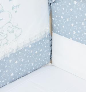 Комплект постельного белья  Зайка с мамой, цвет: серый Leader Kids