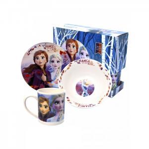 Набор посуды из фарфора Frozen II (3 предмета) ND Play
