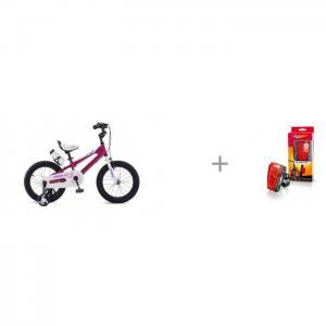 Велосипед двухколесный  Freestyle Steel 16 и фонарь V-052 с лазерной подсветкой Яркий луч Royal Baby