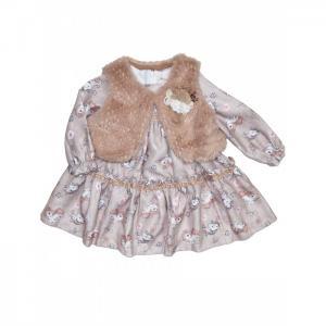 Комплект для девочки (жилет, платье) 3280 Baby Rose