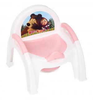Горшок-стульчик  Маша и Медведь, цвет: розовый Бытпласт