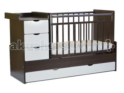 Кроватка-трансформер  СКВ-5 Жираф маятник поперечный СКВ Компани