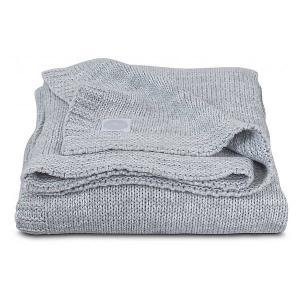 Вязаный плед Jollein Melange knit soft grey, 75х100 см. Цвет: серый