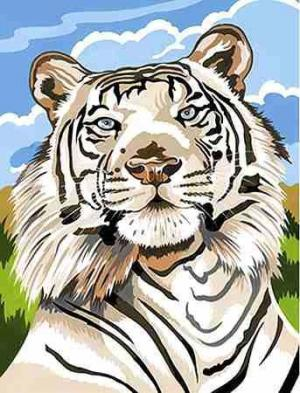 Набор для раскрашивания Белый тигр Reeves