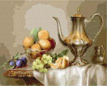 Картина по номерам Натюрморт с фруктами 50х40 см Molly