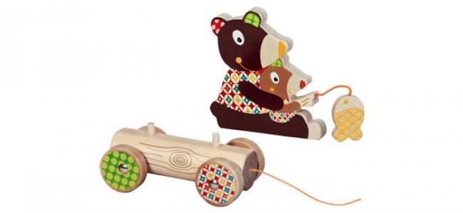 Каталка-игрушка  Мишка большая Ebulobo