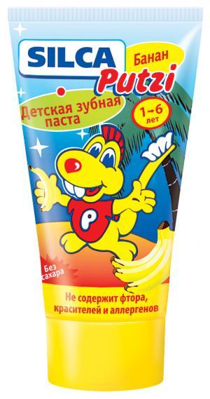 Зубная паста  Putzi банан без фтора, 50 мл Silca