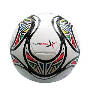Мяч  футбольный, цвет: белый 22 см FunMax