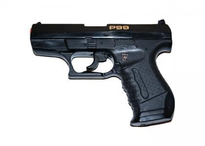 Пистолет пистонный Специальный агент P99 25-зарядный 180 мм Sohni-wicke