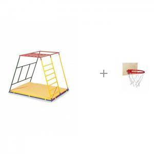 Детский спортивный комплекс Стандарт базовая комплектация и Баскетбольное кольцо со щитом Ранний старт