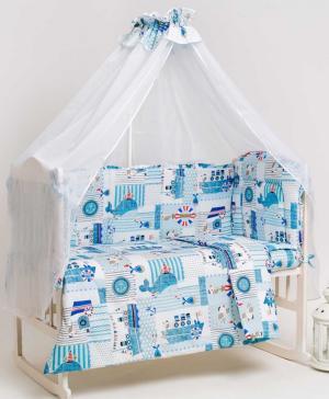 Комплект в кроватку из 4-х предметов Навигация Мой Ангелочек