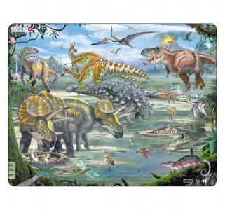 Пазл  Динозавры 65 деталей Larsen
