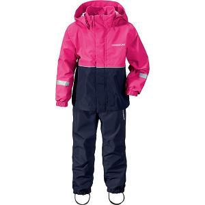 Комплект Didriksons Rusk: куртка и брюки. Цвет: фуксия