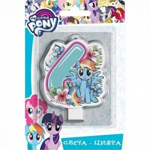Свеча-цифра  №6 4 см My Little Pony