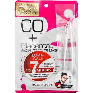 Маска  Placenta с плацентой и коллагеном, 7 шт Japan Gals