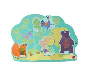 Деревянная игрушка  Vertiplay Магнитные пазлы Кролик Хоппи и его друзья Oribel