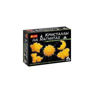 Набор для опытов Кристаллы на магнитах (желтые) Ранок