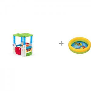 Игровой домик Весёлые шары и бассейн Intex Мини с59409 Step 2