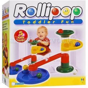 Конструктор  Крутые виражи Rollipop (10 деталей + 5 шаров) Tototoys