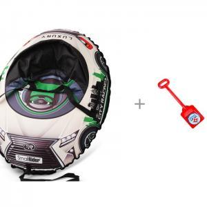 Тюбинг  Snow Cars 3 LX 106 см и Нордпласт Лопата КХЛ Small Rider