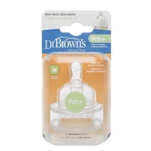 Набор сосок Dr.Browns с широким основанием Y-отверстие силикон, 9 мес Dr.Brown's
