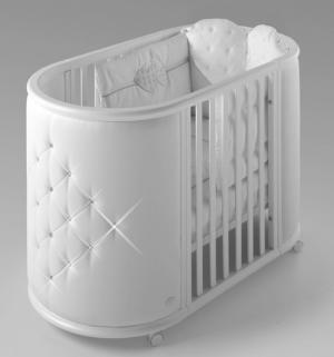 Колыбель-кровать  Perla, цвет: белый Bambolina