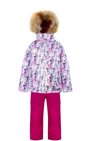 Комплект куртка/полукомбинезон , цвет: белый Gusti Boutique