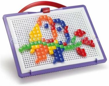 Мозаика Фантастические цвета 100 деталей (треугольные и квадратные) Quercetti