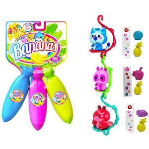 Игровой набор  Bananas 3 банана с сюрпризом, синий, фиолетовый, розовый Cepia. Цвет: разноцветный