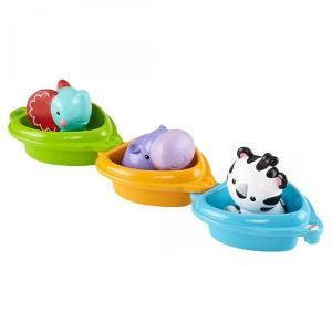 Игрушка для ванной  Друзья на лодочках 3 шт, 29.5 x 10 14 см Fisher-Price