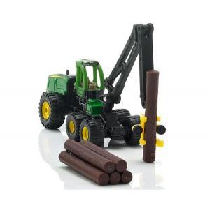 Модель трактора  John Deere с манипулятором Siku