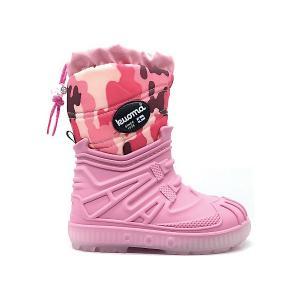 Сноубутсы  Vihuri для девочки KUOMA. Цвет: розовый