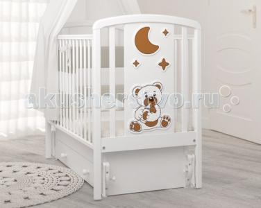 Детская кроватка  Жаклин Мишка с соской маятник универсальный Angela Bella