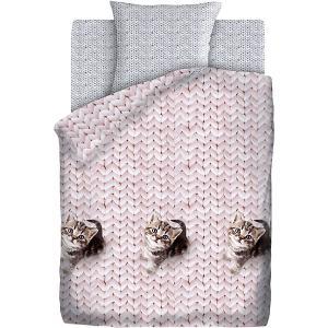 Детское постельное белье 1,5 сп 4 YOU «Мурлыка» 4YOU. Цвет: розовый