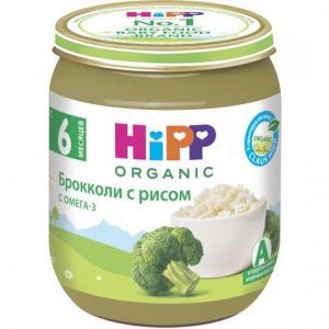 Пюре  в баночке брокколи-рис с 5 месяцев, 125 г Hipp