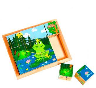 Деревянная игрушка  Кубики Сказки 12 шт. Затейники
