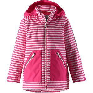 Куртка Minttu  для девочки Reima. Цвет: розовый