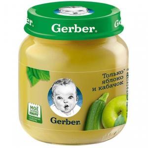 Пюре  яблоко-кабачок с 5 месяцев, 130 г Gerber