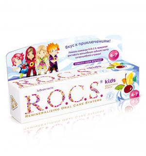 Зубная паста  kids Фруктовый рожок, от 3-7 лет R.O.C.S.