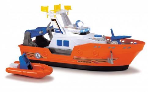 Спасательное судно со шлюпкой и водой 40 см Dickie