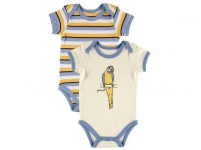 Боди , Лимпопо, 2 шт. голубой, р.61-67 (M) Hudson Baby