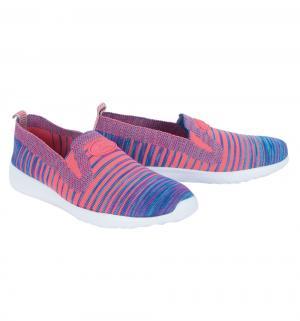 Кроссовки , цвет: розовый/синий Зебра