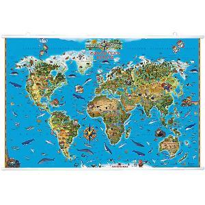 Карта Мира Обитетели Земли на рейках Издательство Ди Эм Би
