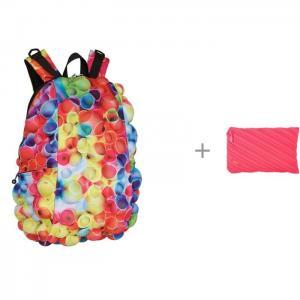 Рюкзак Bubble Full Tubular с пеналом-сумочкой Zipit Neon Jumbo Pouch MadPax