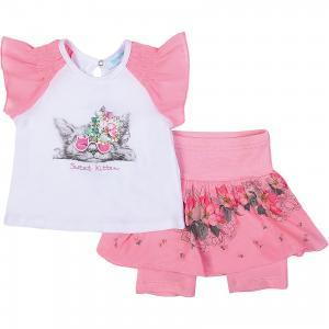 Комплект: Футболка и шорты для девочки Бимоша. Цвет: розовый