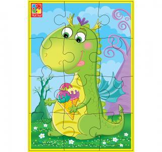 Пазлы мягкие  Динозавр с мороженым А5 Vladi Toys