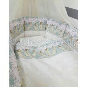 Комплект в кроватку  Ангелы для круглой (6 предметов) ByTwinz