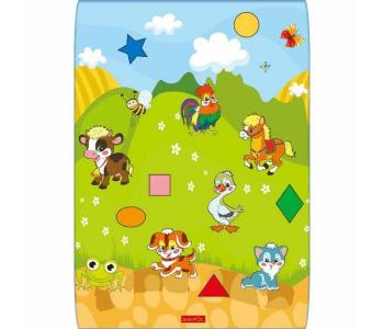 Игровой коврик  Домашние животные 100х140х1 см BabyPol