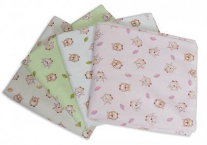 Пеленка  для новорожденных фланелевая Дочке Совушки 4 шт. Чудо-чадо