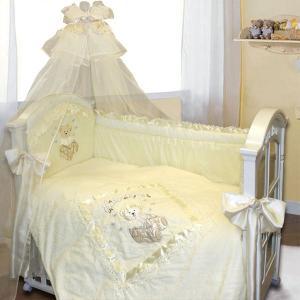 Комплект в кроватку  Рафаэлло 140х70 (10 предметов) Золотой Гусь